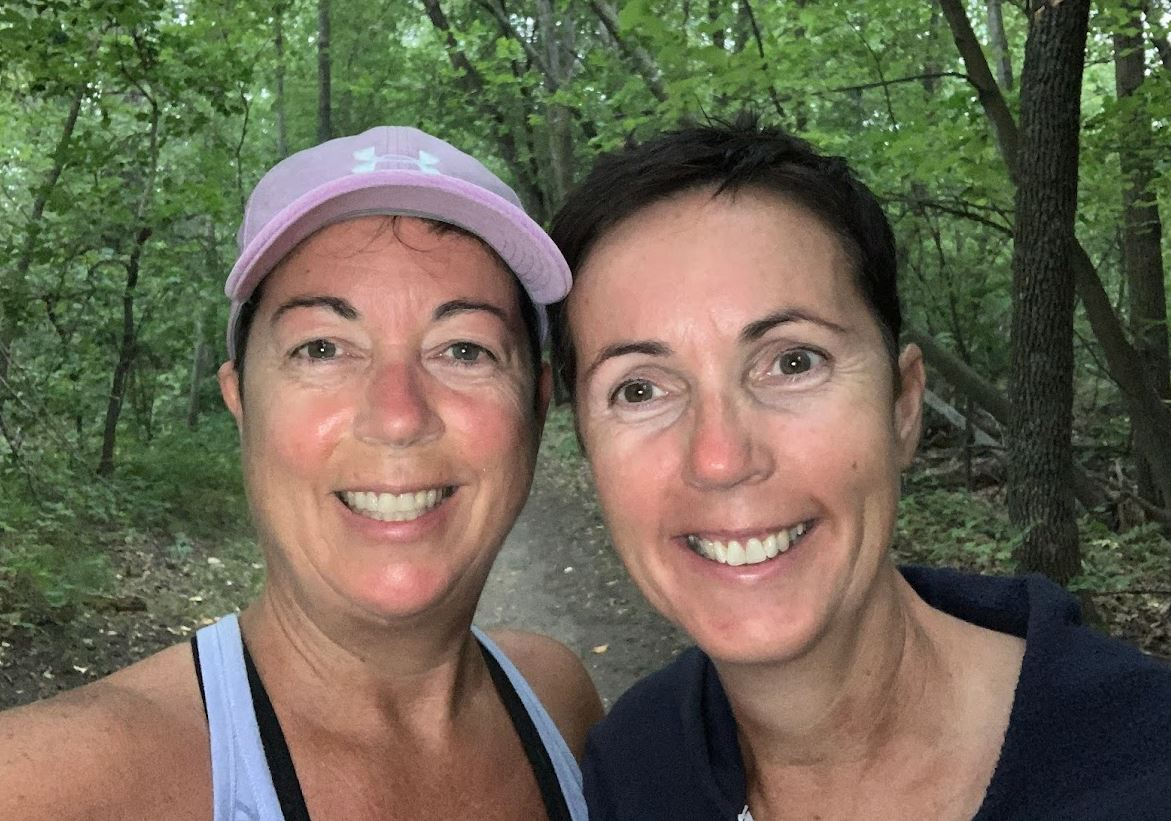 walk with my sister in Beaudry Provincial Park