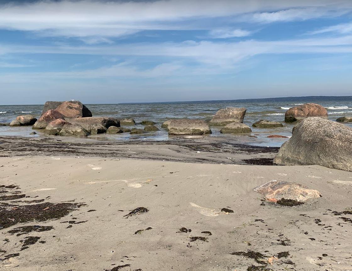 Walking at Grand Beach