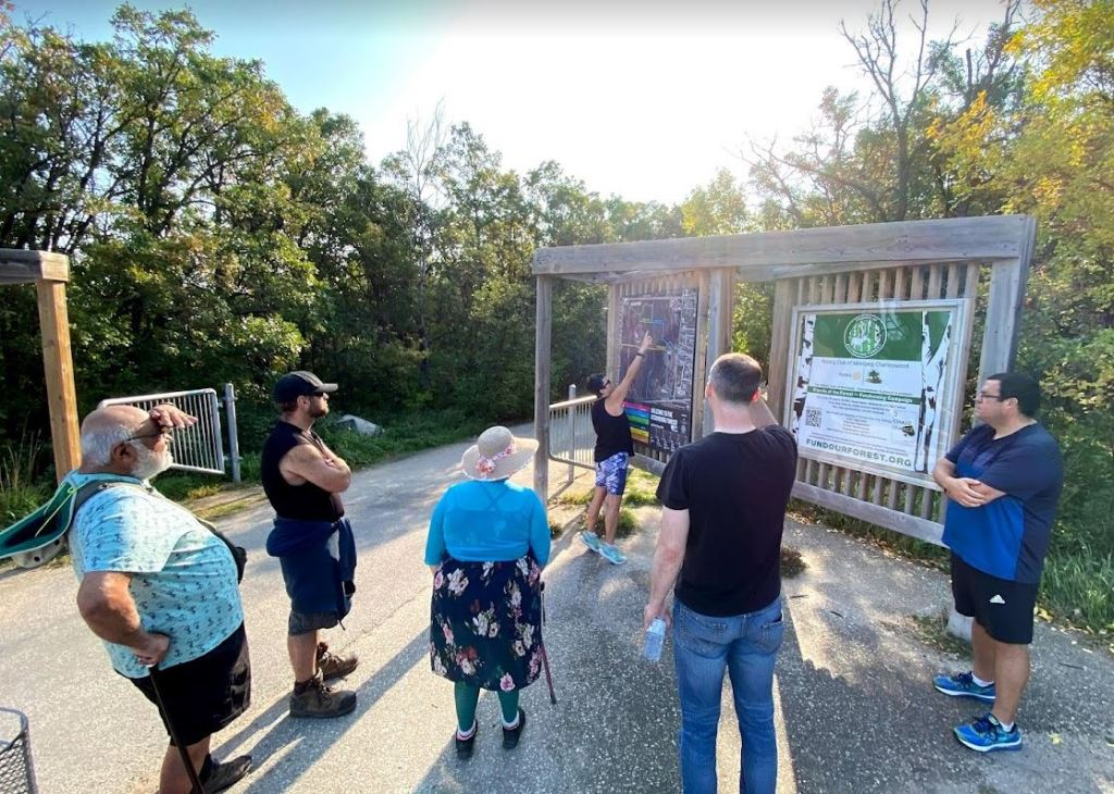 group walk plant-based living winnipeg